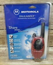 One Motorola Talkabout T5200  FRS Recreational Two Way Radio