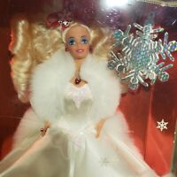 Mattel Barbie Happy Holidays 1989 Special Edition Christmas Doll White Dress