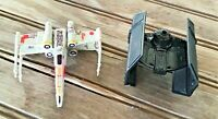 """Lot of 2 Star Wars Spaceship Plastic Toys Small 2"""" - 3"""""""