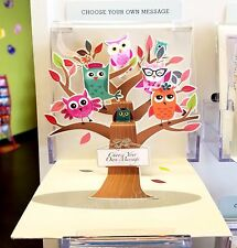 Owls - Pop-Up Greeting Card - Personalized Gift - 3 D - Owl Tree - Fun Greetings