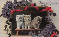 POSTCARD  CATS   Happy  Hours