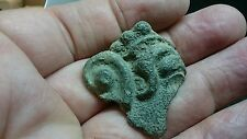 Roman Bronze very rare fragment part face & ear off idol/God bust or statue L109