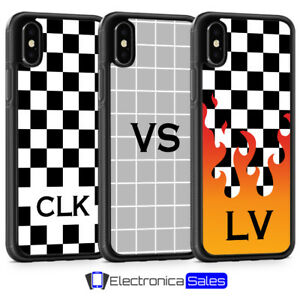 Personalised Grid Geometric Tumblr Initial Phone Case for iPhone X XS XR 8 7 6 5
