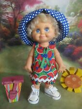 Watermelon Wrap Dress Set with Hat and Shoes...NO DOLL!