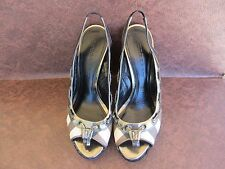 Women's BURBERRY Wedge Platform Shoes Size US 7.5 Euro 38