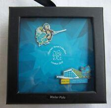 Orig. 2er Pin Set  Olympische Spiele LONDON 2012 - WASSERBALL / in Box ! RARITÄT