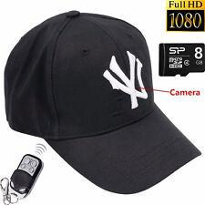 Mini 1080P 8GB Spy HD DVR Hidden Hat Camera Motion Detection Video Recorder Cam