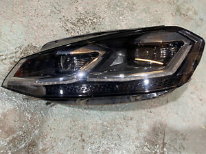 VW GOLF GTD MK 7 7.5  LEFT PASSENGER LED HEADLIGHT 5G2941059 WITH BALLAST