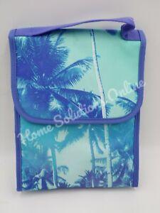 Pottery Barn Teen Gear Up Palms Palm Tree Carryall Lunch Bag Blue Multi  #9848J