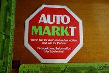 Alter Aufkleber Auto Motorrad AUTOMARKT Autoverkauf