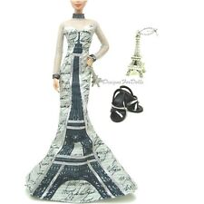 Barbie Fashion Pink Label Landmark Collection Eiffel Tower Outfit New