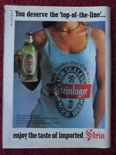 1978 Print Ad Steinlager Beer ~ Sexy Girl Revealing Shirt Top-Of-The-Line