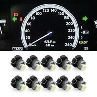 10x Neo Wedge 1 SMD 1210 White LED Car Bulbs T3 HVAC Climate Control Light Lamp