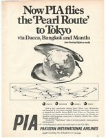 1969 Original Advertising' Advertising Pia Pakistan International Airlines Adv