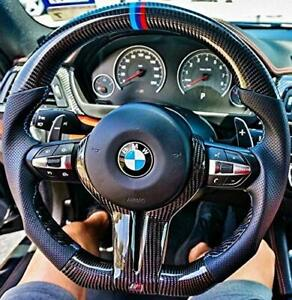 2020 BMW F80 Ferrari Racing Design Real Carbon Fiber  Steering Wheel W/Paddles