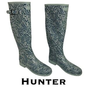 Hunter Refined Tall Coral Print Waterproof Women's Boot Size 8