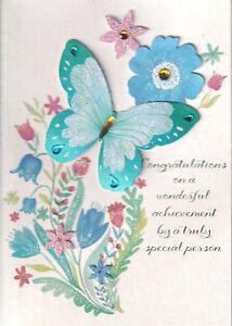 PAPYRUS GRADUATION CARD NIP MSRP $6.95 BUTTERFLY  CARD (L1)