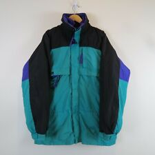 Columbia Mens Large Tall Coat Jacket Parka Green Purple Black Insulated Nylon