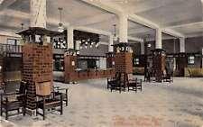 Excelsior Springs Missouri New Elms Hotel Lobby Interior Antique Postcard K21564