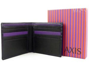 Mala Leather Mens Wallet Axis Collection Black & Purple