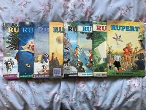 Rupert Annuals from 1965 to 1972. Total of 8 Books.