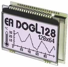 Electronic Assembly EA DOGL128W-6 Graphic LCD Display, White on Black, Transflec