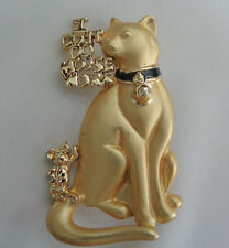 """New listing Dancraft Adorable Cat Brooch """" I Don'T Do Mouse Work"""" At Top Of Brooch"""