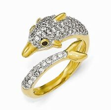 Cheryl M Sterling Silver Cubic Zirconia Dolphin Ring Size 8 #978