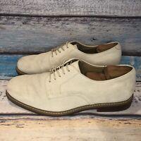 Men's Shoes BASS Brockton Oxfords Sz 13 D White Suede Bucs