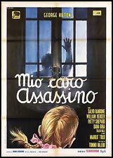 MIO CARO ASSASSINO MANIFESTO CINEMA FILM GIALLO THRILLER 1972 MOVIE POSTER 2F