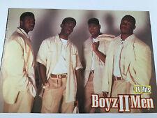 Vintage 90s' Rare Boyz II Men Pinup Boyz 2 Men Foreign Magazine 1 Page Pin-Up