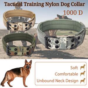 M 1000d military tactical nylon dog collar metal buckle ❤ training