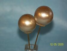 Vintage Lot Of 2 Hat Pins Stick Pins Large Faux Pearls