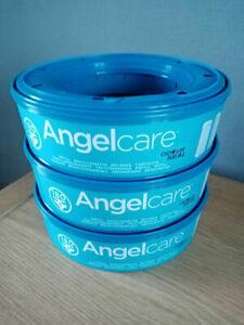 Angelcare Refill Cassette 3 Packs For Nappy Bin Disposal System Sacks Bags Liner