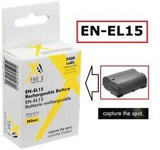 Hi Capacity Rechargeable EN-EL15 Li-Ion Battery for Nikon D800 D800E D600 D610