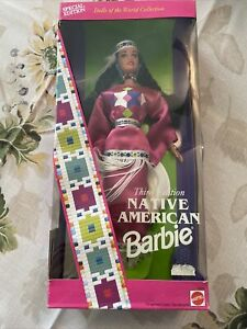 Special Edition! Native American 3rd Edition Barbie Doll New In Box