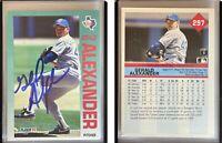 Gerald Alexander Signed 1992 Fleer #297 Card Texas Rangers Auto Autograph