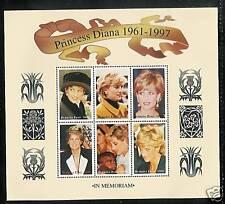 BURKINA FASO # 1093 a-f MNH PRINCESS DIANA MEMORIAL Miniature Sheet