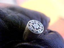"1/4"" diameter mosaic knife pin making supplies custom made unique design"