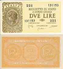 (1) Luogotenenza Biglietto di Stato da 2 Lire Italia Laureata