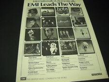 OLIVIA NEWTON-JOHN Sheena Easton KIM WILDE Bots GRAUZONE etc 1982 Promo Ad mint