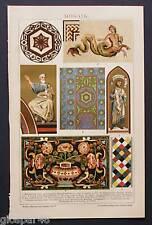 1894_ANTICA CROMOLITOGRAFIA:MOSAICO/MOSAIK.RARA.