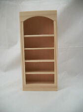 Bookcase 5016 dollhouse miniature 1/12 scale Houseworks unfinished wood