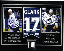WENDEL CLARK TORONTO MAPLE LEAFS GAME USED STICK 8 X 10 COA