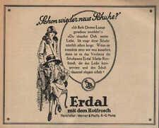 MAINZ, Werbung / Anzeige 1924, Werner & Mertz Schuhpasta Erdal Marke Rotfrosch