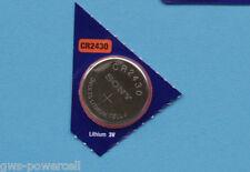 2 x Sony Batterie CR2430 Lithium 3V Knopfbatterie CR 2430 Knopfzelle