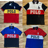 New Mens Polo Ralph Lauren Classic Fit Colorblock Polo Shirt Big Pony