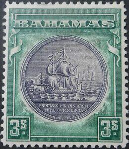 Bahamas 1931 Three Shillings SG 132 mint