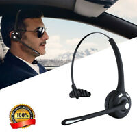 Wireless Bluetooth Boom MIC Noise Cancelling Handsfree Headset For Truck Driver