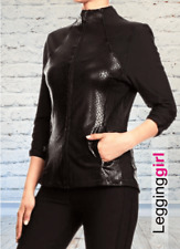 Women's small Faux Leather Jacket black leather faux leather imitation leather